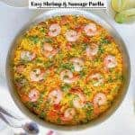 Easy Shrimp and Sausage Paella Recipe (Tip for Perfect Paella Everytime)