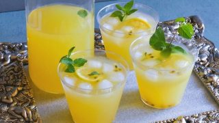 Passionfruit and Mint Sangria (5 Minutes Tropical Cocktail Recipe)