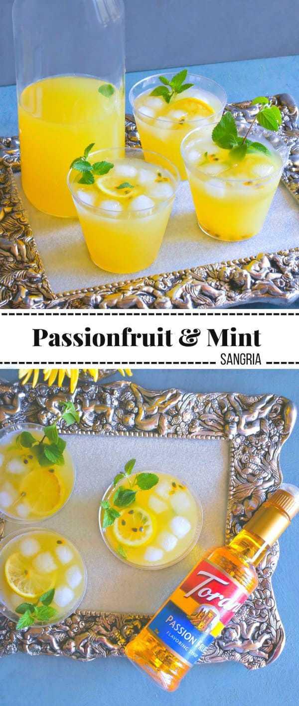 Passionfruit and Mint Sangria: #passionfruit #sangria #MyToraniSummer #ad @toraniFlavor