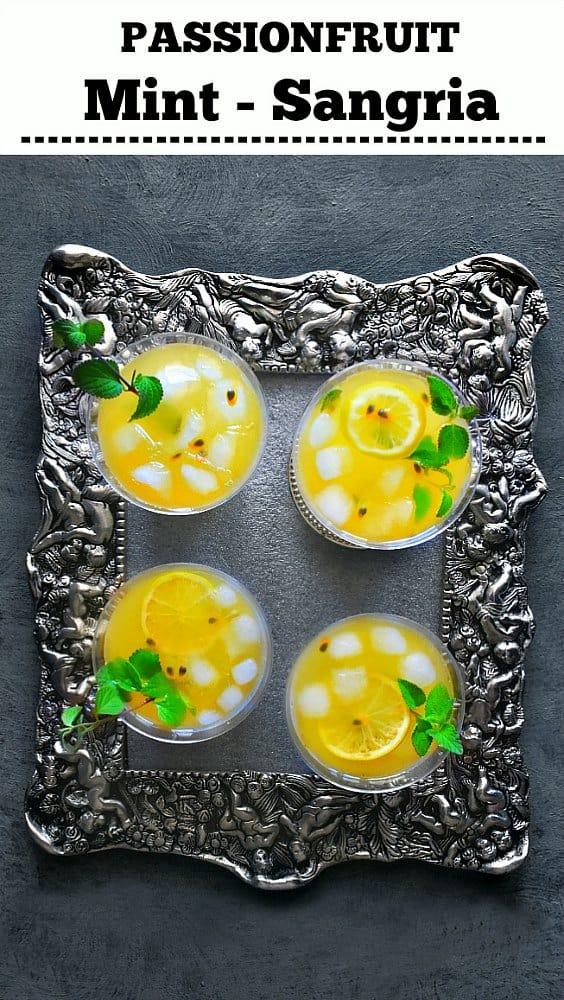 Passionfruit Mint Sangria - Passionfruit Sangria - Tropical Sangria