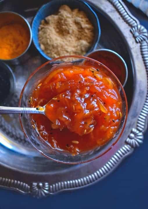quick indian mango chutney