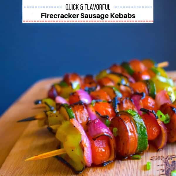 Firecracker Sausage Kebabs