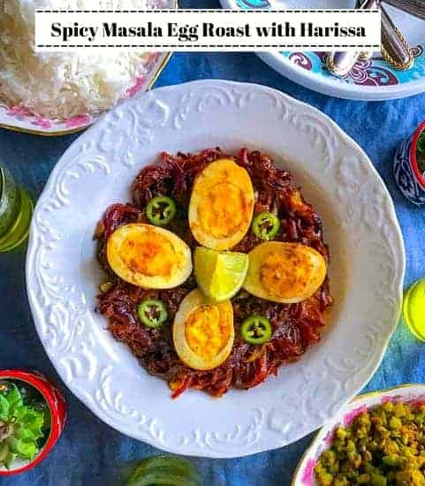 Spicy Masala Egg Roast with Harissa