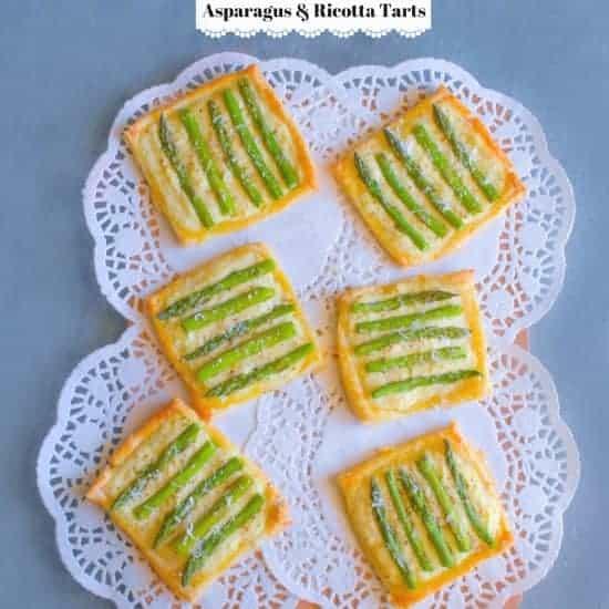 asparagus-and-ricotta-tarts-easycookingwithmolly