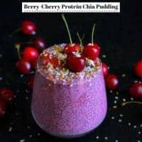 Berry Cherry Protein Chia Pudding - #Chia