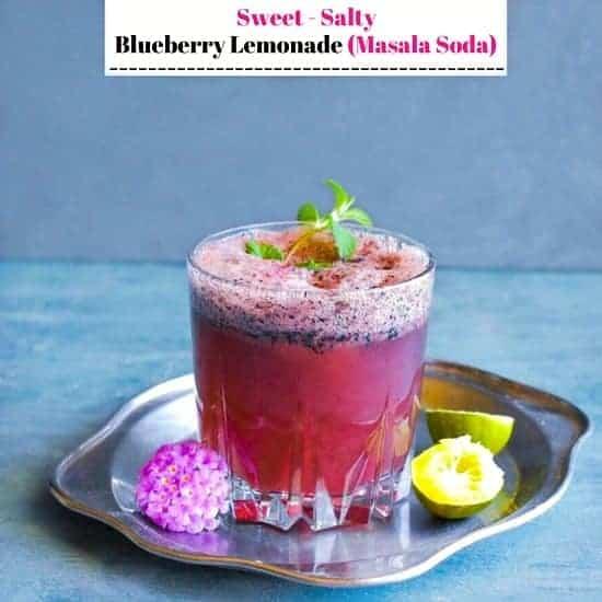 Sweet Salty Blueberry Lemonade (Masala Soda)
