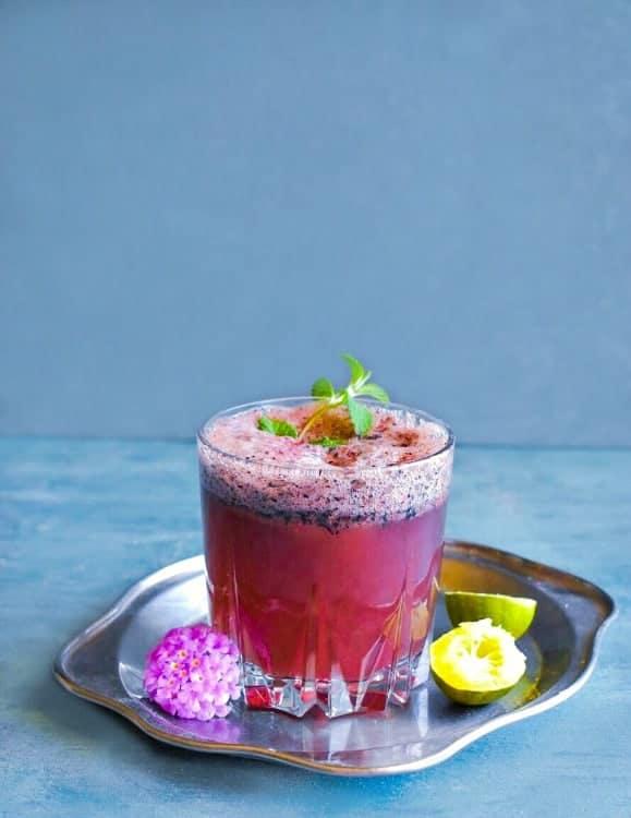 Blueberry Masala Soda