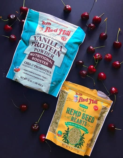 Berry Cherry Protein Chia Pudding recipe ingredients