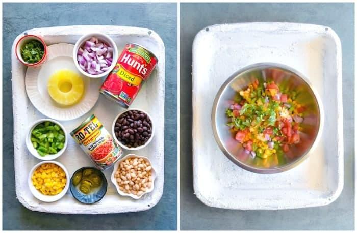 Ingredients for Texas Caviar Recipe
