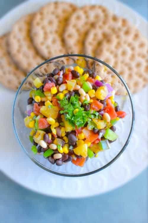 cowboy caviar in a big bowl