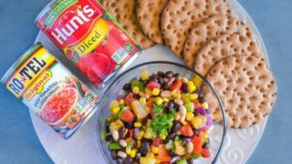 Texas Caviar with Grilled Pineapple Salsa