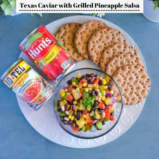 Texas Caviar Recipe with Grilled Pineapple Salsa