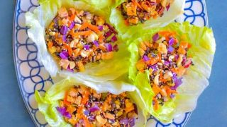 Best Ever Thai Tofu Lettuce Wraps (V+GF) #superbowl