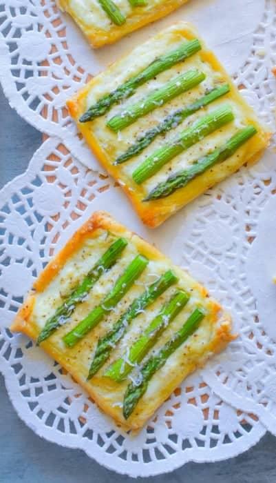 Asparagus Ricotta Tarts