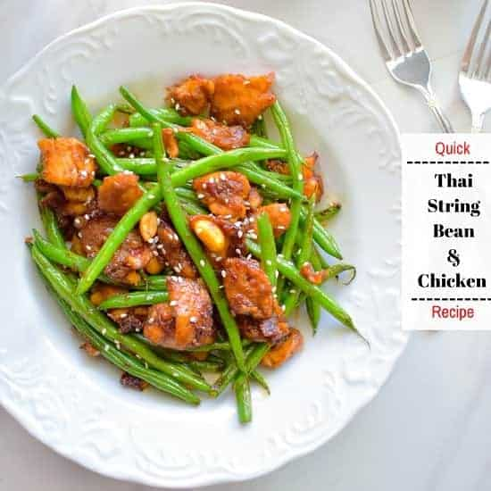 Quick Thai String Beans and Chicken Recipe