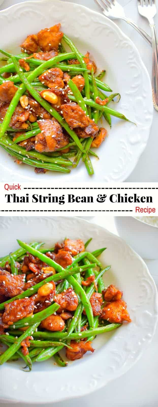 Quick Thai String Bean & Chicken Recipe : #thai #chicken #stringbeans