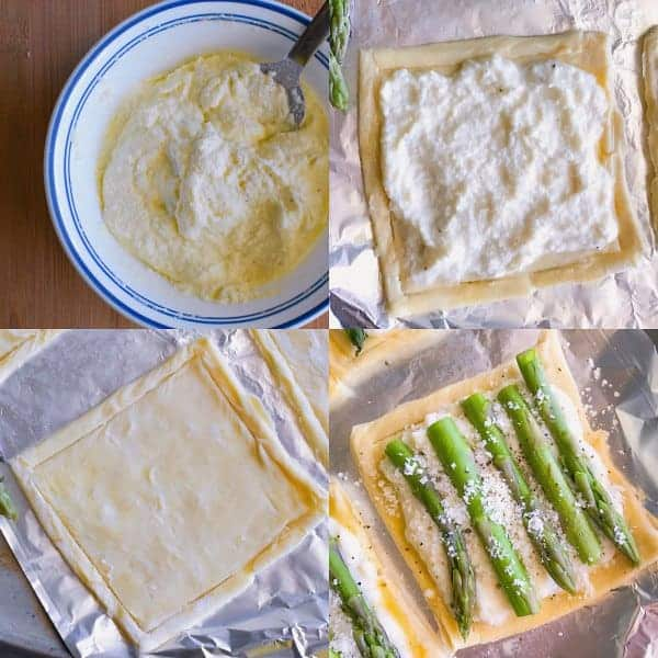 Pictorial - Step by Step Process of Asparagus Ricotta Tarts