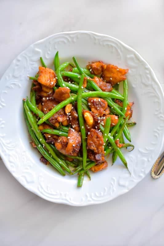 Quick Thai String Bean and Chicken Recipe