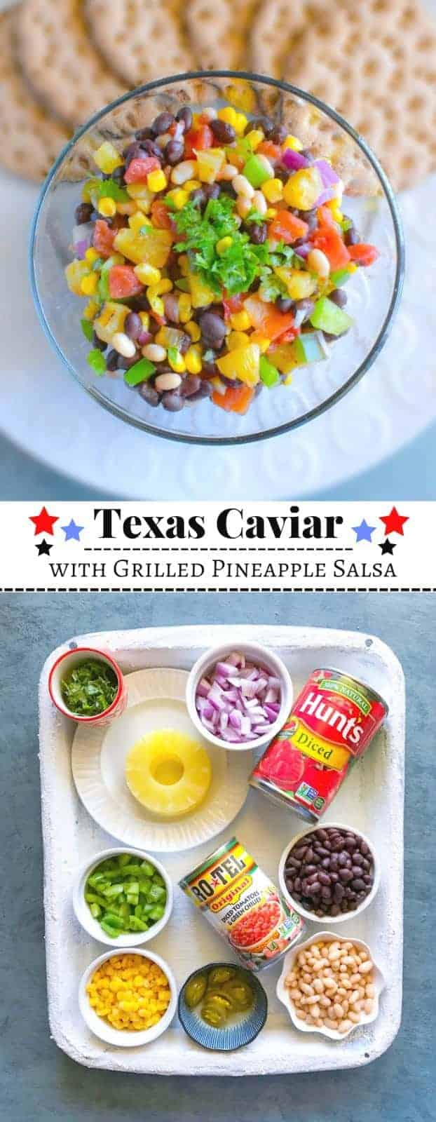 Texas Caviar with Grilled Pineapple Salsa: #texas #caviar #cowboy #ad #ServeUpSummer @walmart