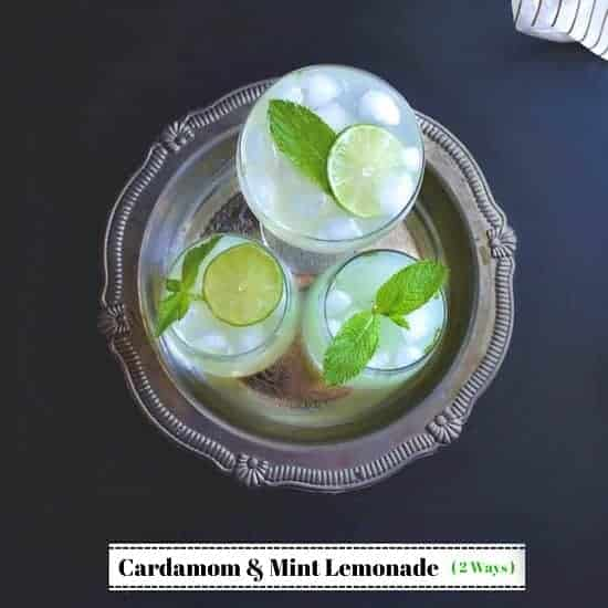 Cardamom and Mint Lemonade (2 Ways)