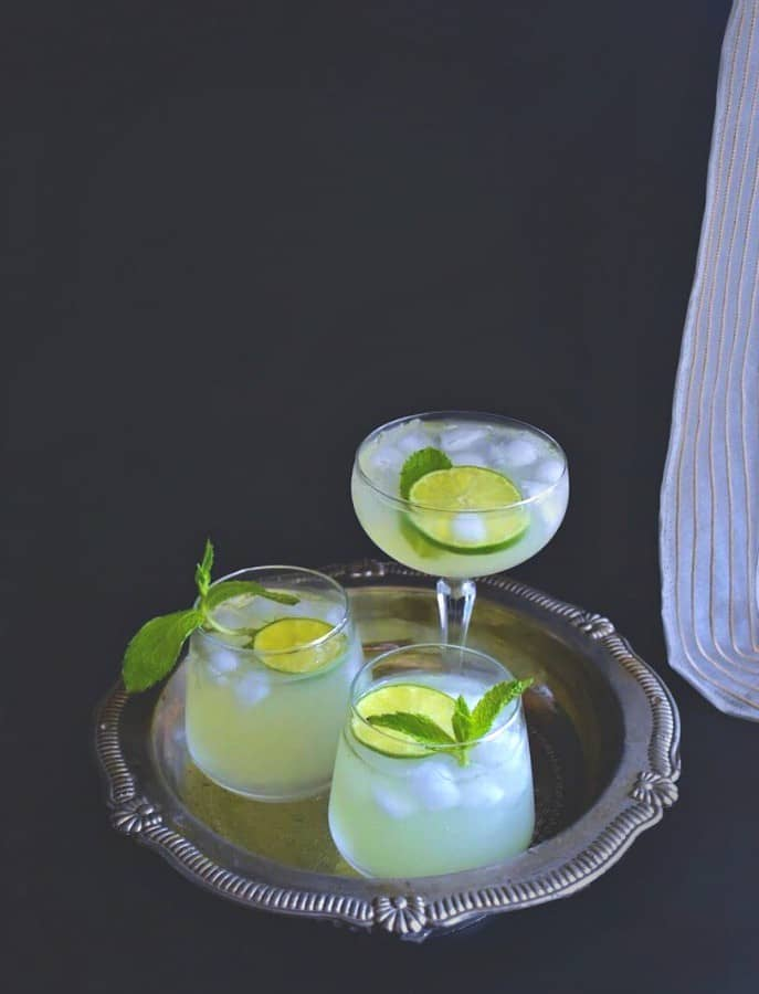easy-Mint Lemonade-recipe