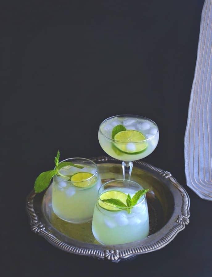 easy-Mint Lemonade-recipe