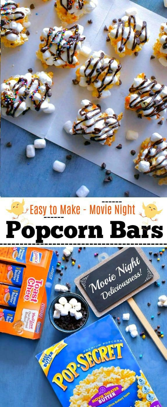 Easy to Make Movie Night Popcorn Bars: #popcorn #bars #Pop4Captain #ad #Pmedia @popsecret @lancesnacks @walmart