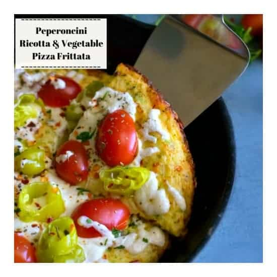 Vegetable Pizza Frittata (Stovetop Recipe)