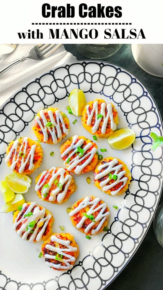 Crab Cakes with Mango Salsa - Healthy Crab Cakes recipe - how to make crab cakes
