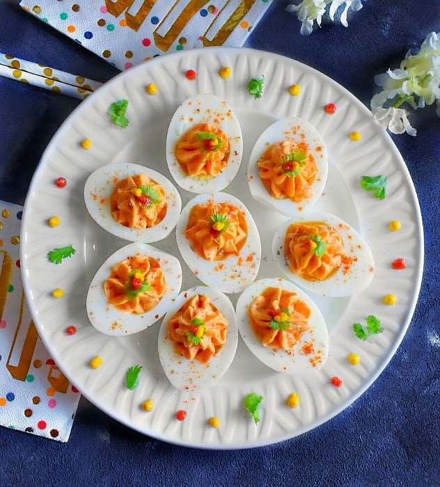 honey sriracha deviled eggs recipe