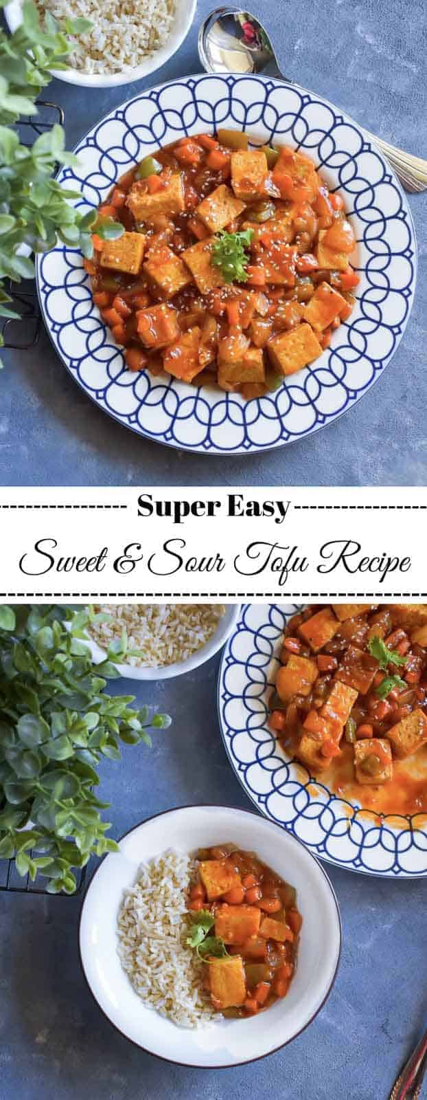 Sweet and Sour Tofu Recipe: #tofu #sweetandsour #stirfry