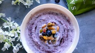 Blueberry Swirl Smoothie Bowl with Pistachio