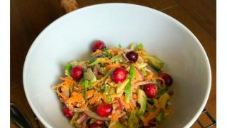 Brussels Sprout, Apple and Orange Winter Salad -  #brusselsprout
