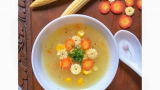 Easy Sweet Corn Soup Recipe (Chinese Soup)