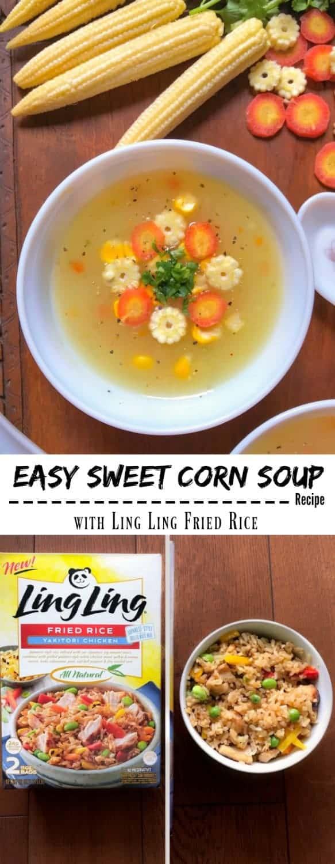 Easy Sweet Corn Soup Recipe: #sweetcorn #soup #indian #LingLingFriedRice #IC #ad