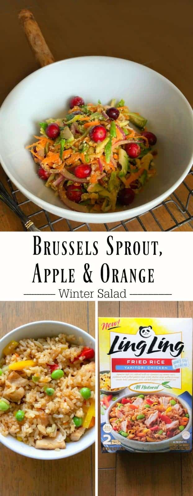 Brussels Sprout, Apple and Orange Winter Salad: #brussels #sprout #winter #salad #LingLingFriedRice #IC #ad