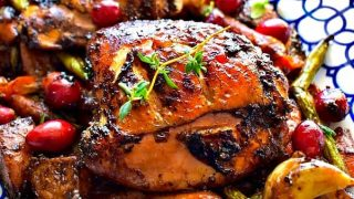 Quick Oven Roasted Balsamic Chicken with Vegetables