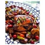 Quick Oven Roasted Balsamic Chicken with Vegetables #onepot