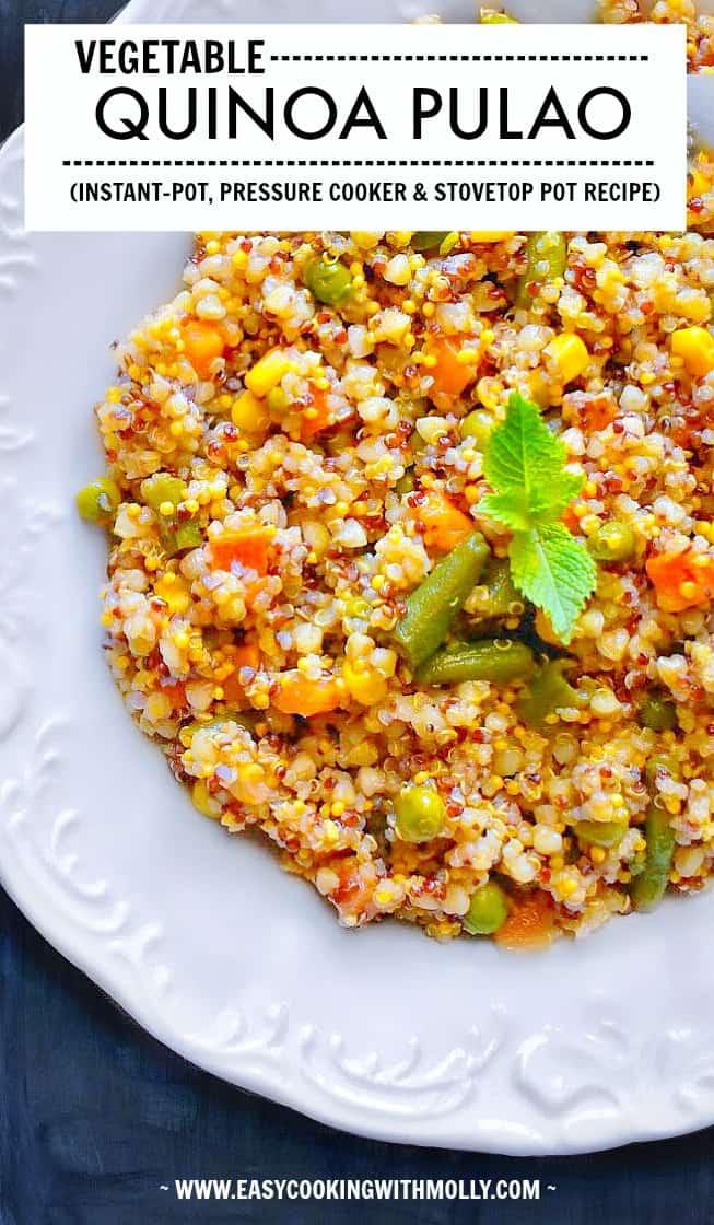 Vegetable Quinoa Pulao #quinoa #pulao