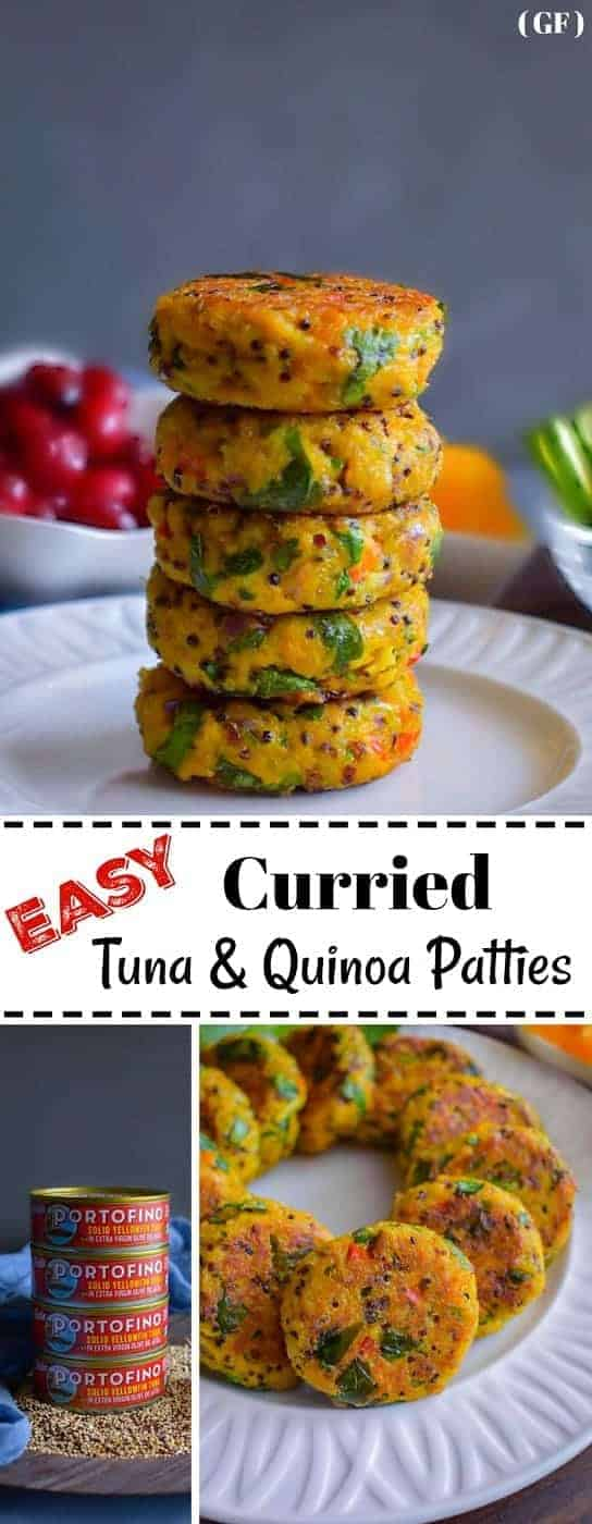 Easy Curried Tuna and Quinoa Patties: #curried #tuna #quinoa #patties #BellaPortofino #IC #ad @bellaportofino