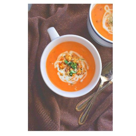 Healing Tomato Carrot Turmeric Soup