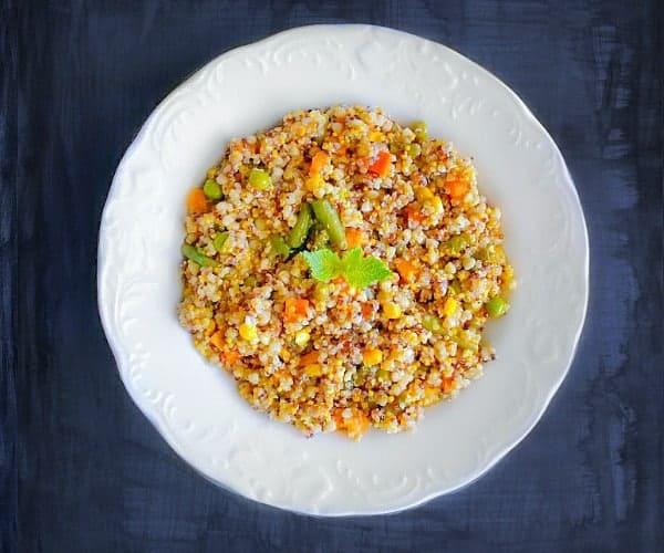 easy vegetable quinoa pulao