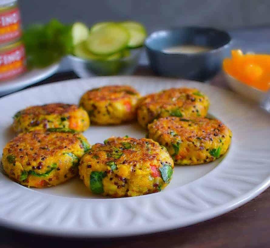Indian tuna quinoa patties