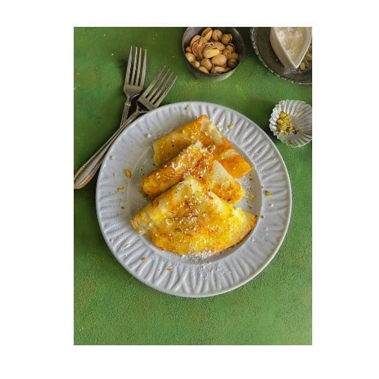 Bengali Patishapta Recipe – Saffron Cardamom Indian Crepes