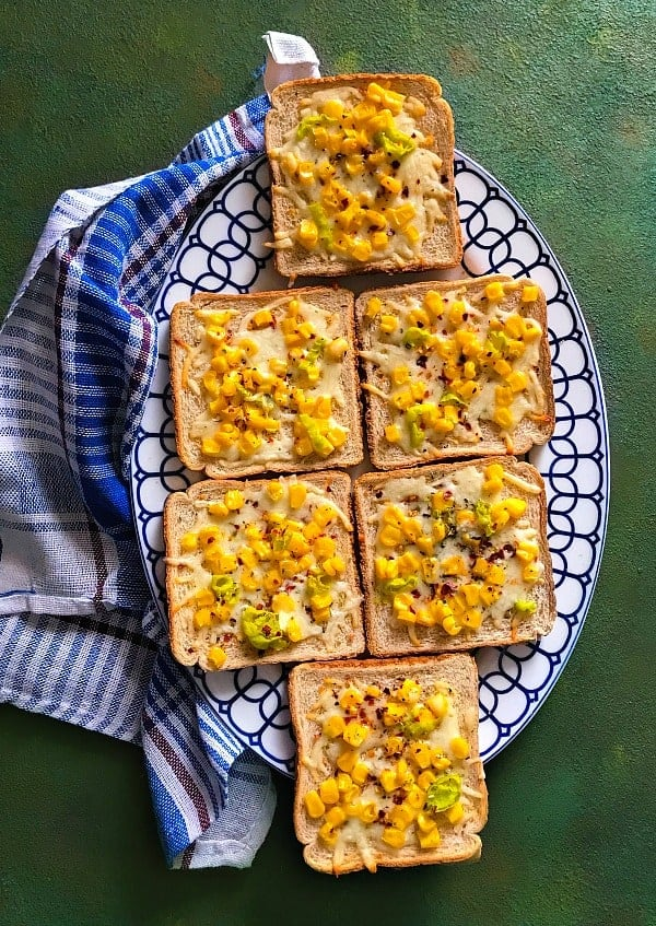 Cheese Corn Toast recipe