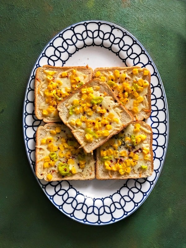 spicy-corn-cheese-toast-recipe
