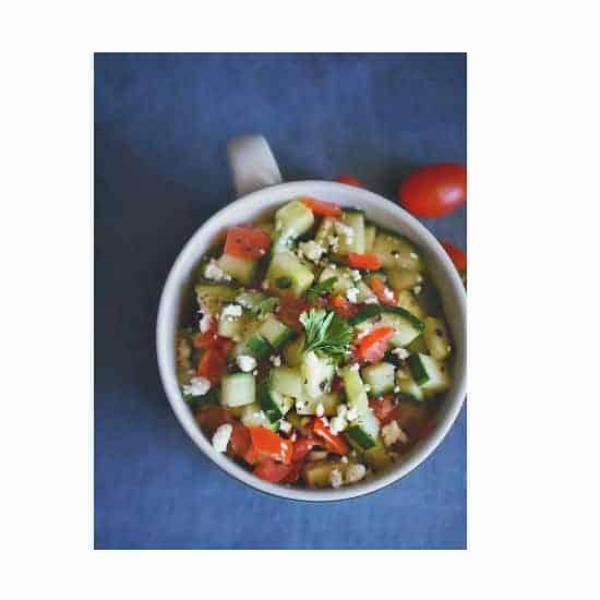 Cucumber Tomato Zaatar Salad