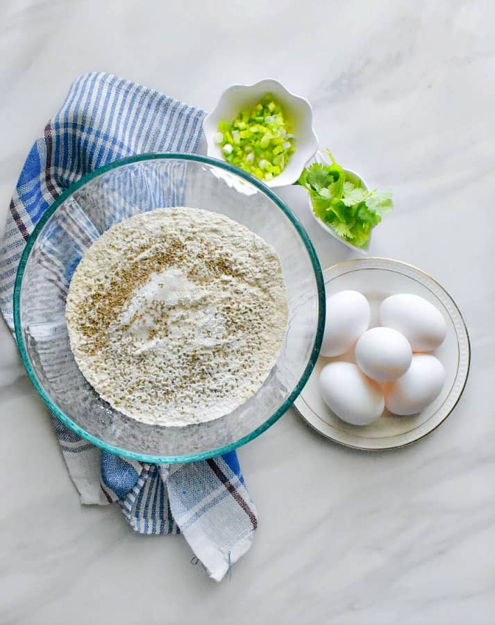 Anda Paratha or egg paratha ingredients