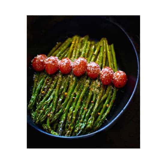 Sauteed Asparagus in Spicy White Wine Sauce + Vacuvita Food Storage