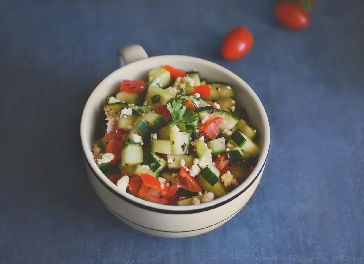 medditeranean zaatar salad